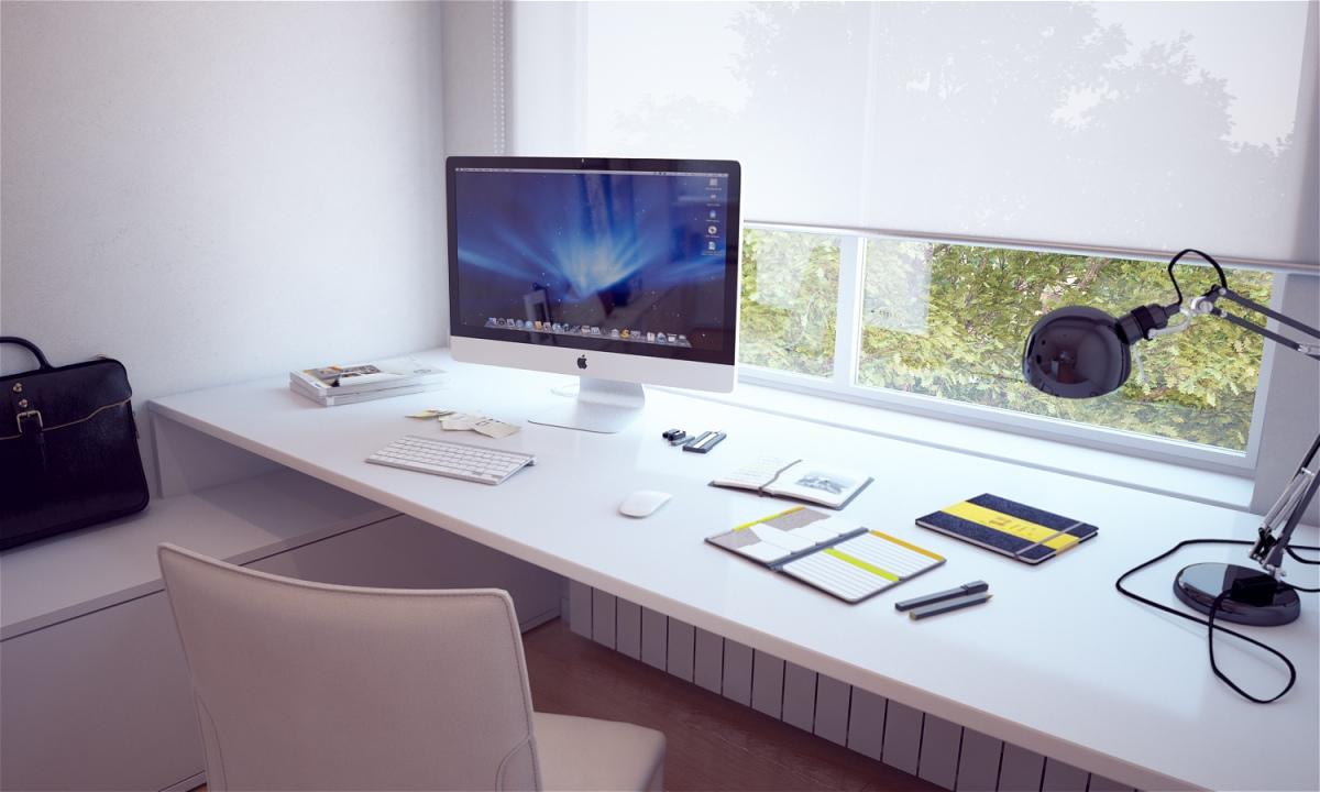 White-Built-In-Bespoke-Desk