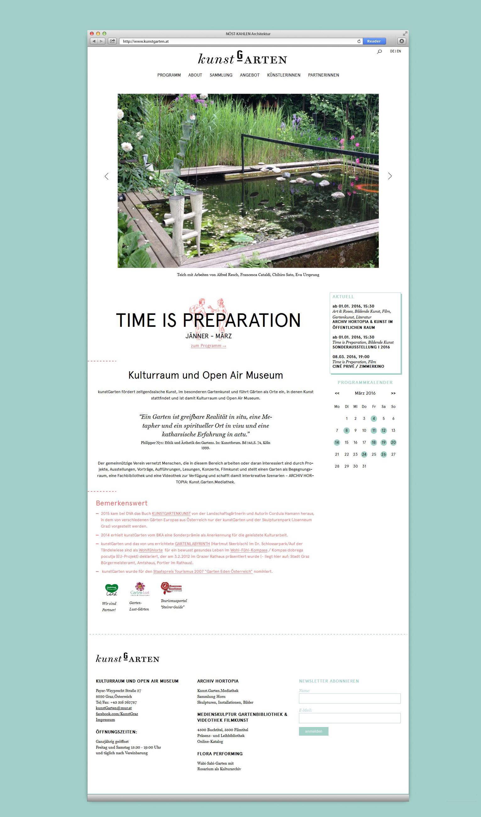 kunstGarten Startseite