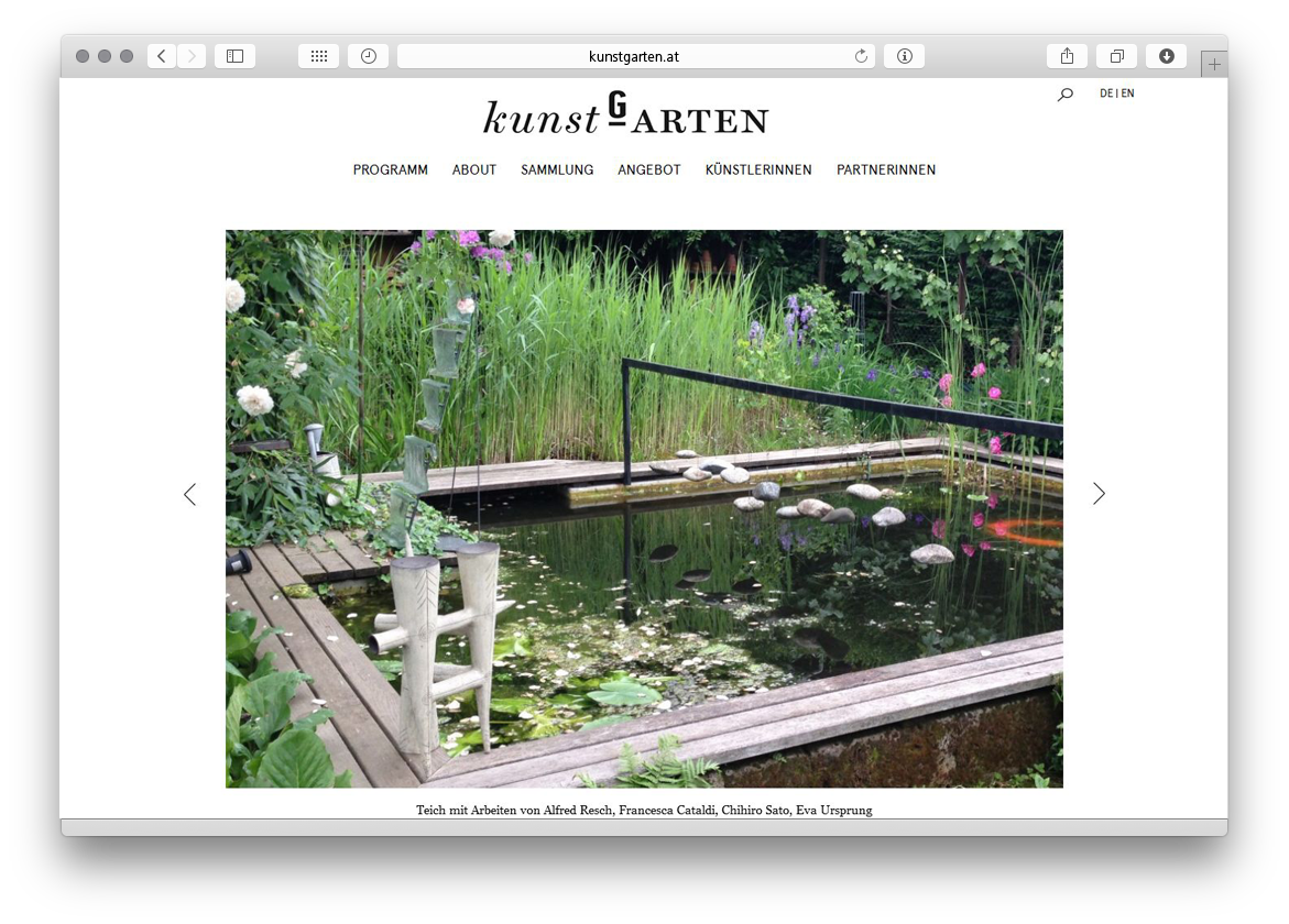 kunstGarten Website Relaunch