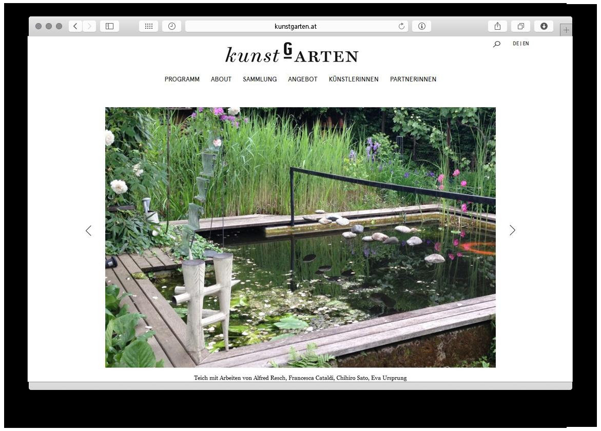 kunstGarten Website Relaunch