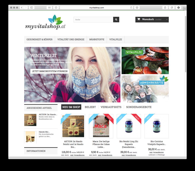 Myvitalshop.com – neuer Webshop online